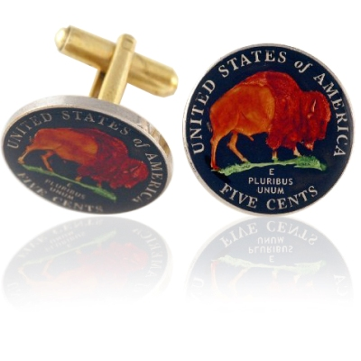 New Buffalo Nickel Coin Cuff Links