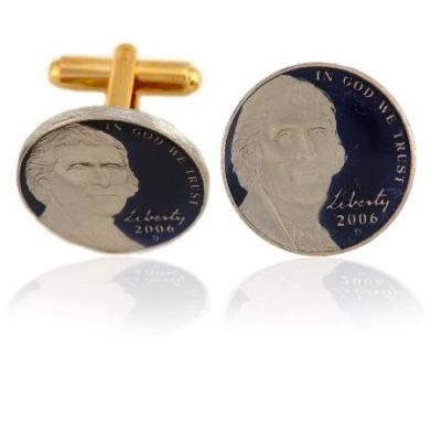 New Jefferson Nickel Coin Cuff Links