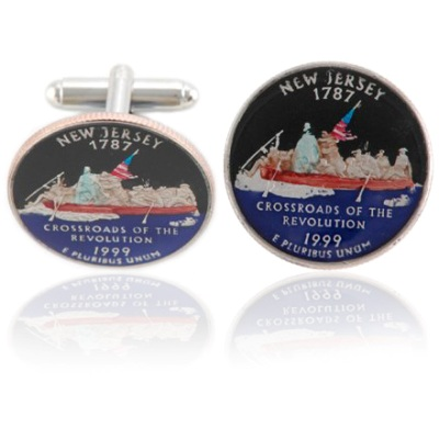 New Jerseyan Quarter Coin Cuff Links