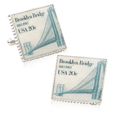Brooklyn Bridge Stamp Cufflinks