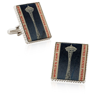 Seattle World'S Fair Stamp Cufflinks