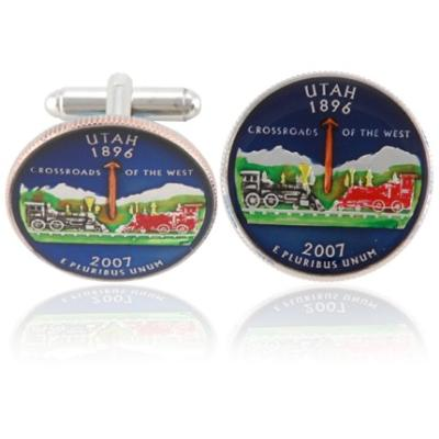 Utahn Quarter Coin Cuff Links