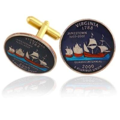 Virginian Quarter Coin Cufflinks
