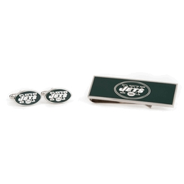 New York Jets Cufflinks And Money Clip Gift Set
