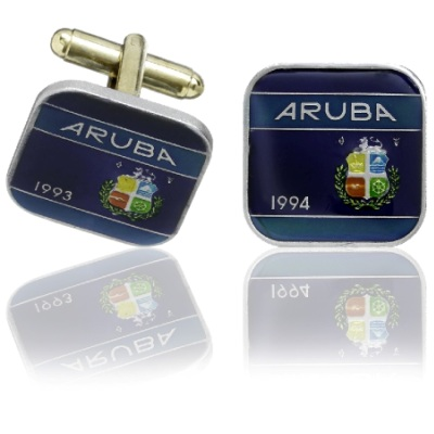 Aruban Coin Cuff Links