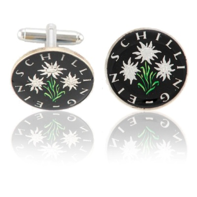 Austrian Edelweiss Coin Cuff Links