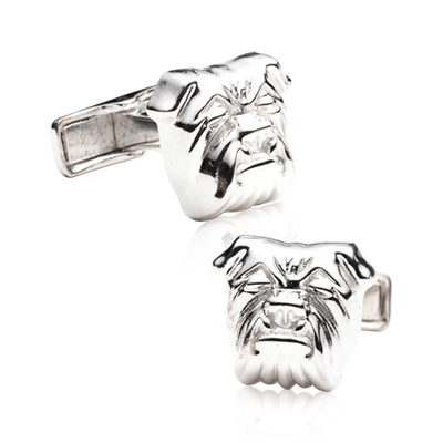 Sterling Bulldog Cufflinks