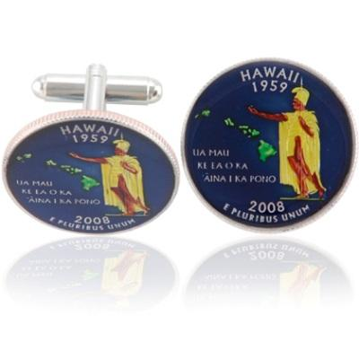 Hawaiian Quarter Coin Cuff Links