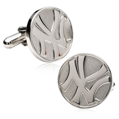 Sterling Silver Yankees Cufflinks