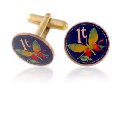 New Guinea Coin Cuff Links