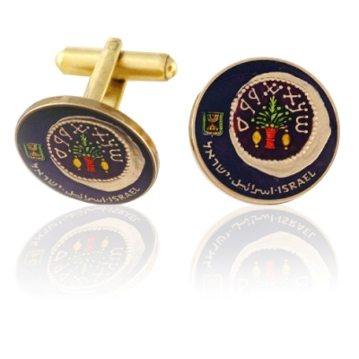 Israel Roman Coin In A Coin Coin Cuff Links