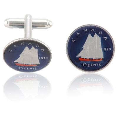 Canadian Dime Coin Cuff Links