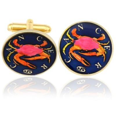 Cancer-The Crab Coin Cufflinks