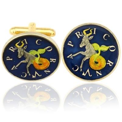 Capricorn-The Goat Coin Cufflinks