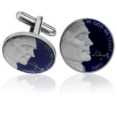 Jefferson Profile Coin Cuff Links