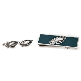 Philadelphia Eagles Cufflinks And Money Clip Gift Set