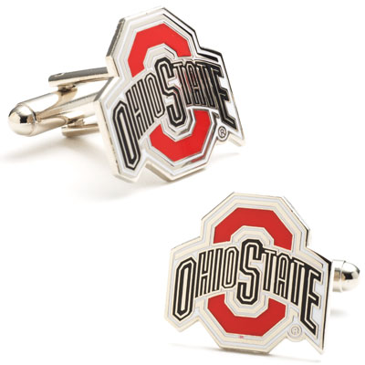 Sterling Ohio State University Buckeyes Cufflinks