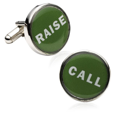 Poker Decision Maker Cufflinks
