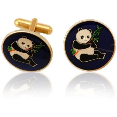 Chinese Panda Coin Cuff Links