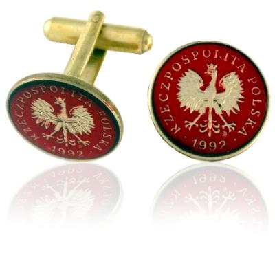 Poland Eagle Coin Cuff Links
