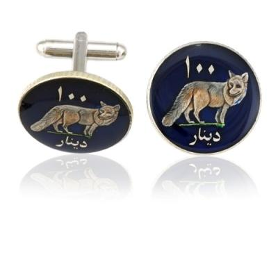 Kurdistan Wolf Coin Cuff Links