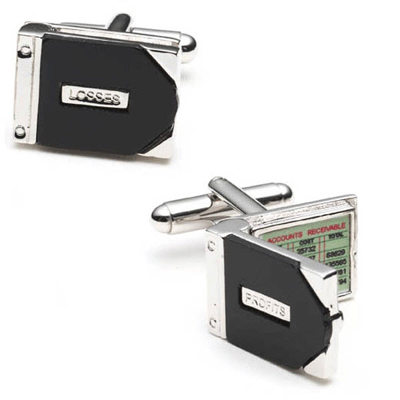 Profits And Losses Cufflinks