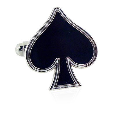 Spades Card Suit Cufflinks