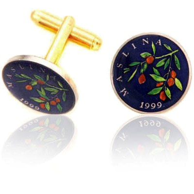 Croatian Coin Cuff Links