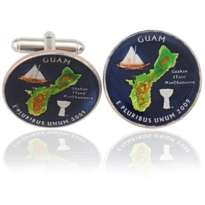 Quam Quarter Coin Cuff Links