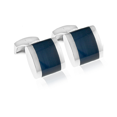 Tateossian Freeway Navy Cufflinks