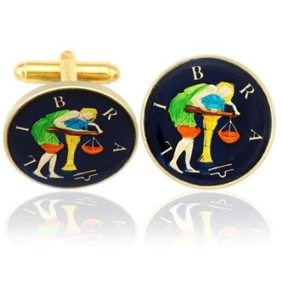 Libra-The Scales Coin Cufflinks