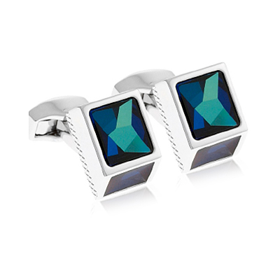 Tateossian Sw Cubism Blue Cufflinks