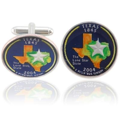 Texan Quarter Coin Cuff Links