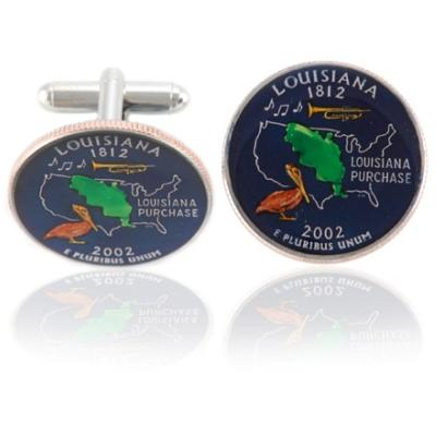 Louisianan Quarter Coin Cuff Links