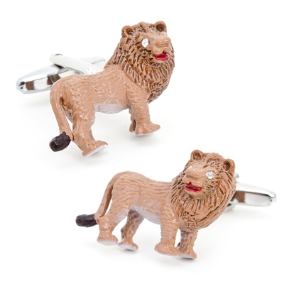 Enamel Lion Cufflinks