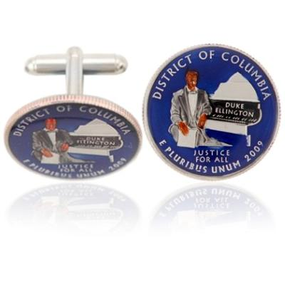 Washingtonian Dc Quarter Coin Cuff Links