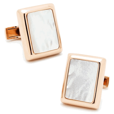 Rose Gold And Mop Jfk Presidential Cufflinks