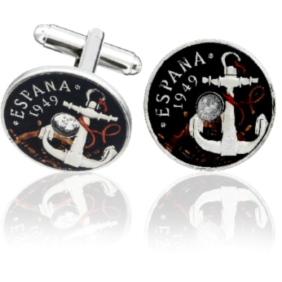 Spain Anchor Coin Cuff Links
