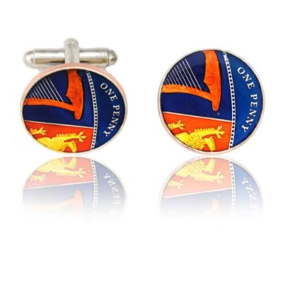 English New Pence Coin Cuff Links
