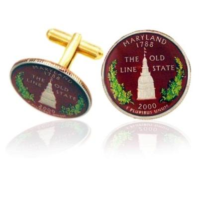 Marylander Quarter Coin Cufflinks