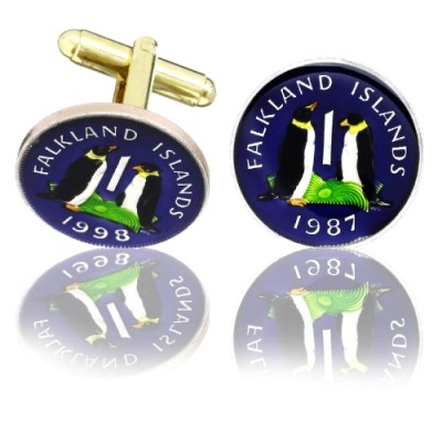 Falkland Islands Coin Cuff Links