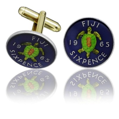 Fijian Coin Cuff Links