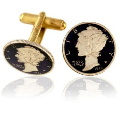 Mercury Dime Coin Cuff Links