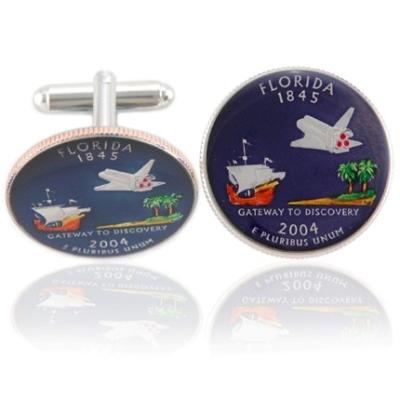 Floridian Quarter Coin Cuff Links