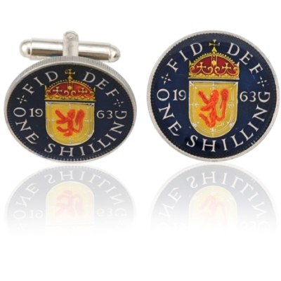 Scotland 1 Shilling Lion Coin Cuff Links
