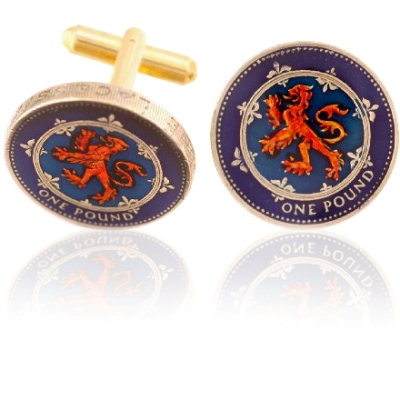 Scotland Pound Coin Cuff Links