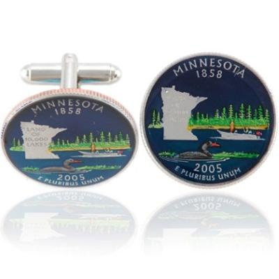 Minnesotan Quarter Coin Cuff Links