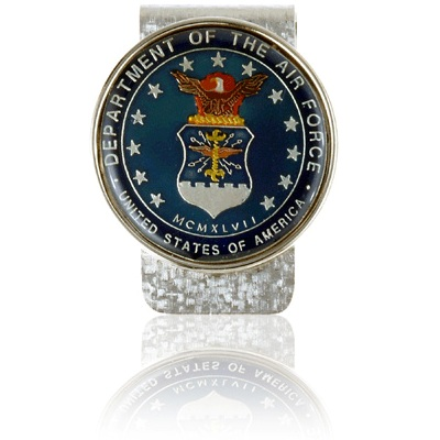 Air Force Commemorative Medallion Coin Money Clip