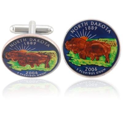 North Dakotan Quarter Coin Cuff Links
