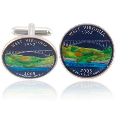 West Virginian Quarter Coin Cuff Links